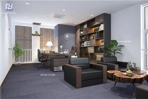 Thiết kế nội thất văn phòng NTQ tầng 10 tòa nhà Sông Đà – Mỹ Đình