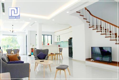 Thi công hoàn thiện nội thất biệt thự Xanh Villa